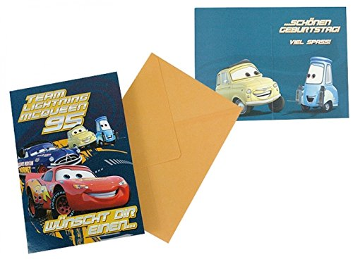 Disney Pixar Cars Geburtstagskarte