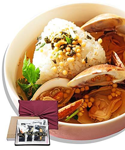 お茶漬け ギフト 高級 セット 6食入り (炙り明太子・鯛・焼き海老・はまぐり・しじみ・梅)