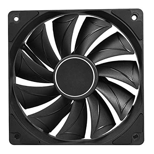 4 pines 120MM 1800RPM PWM PC caso velocidad del ventilador ajustable alto flujo de aire CPU Radiador larga vida ultra silencioso ventilador de refrigeración negro 4 pines 120MM 1800RPM PWM Cooler