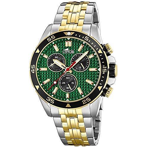 Lotus Herren Chronograph Quarz Uhr mit Edelstahl Armband 18651/2