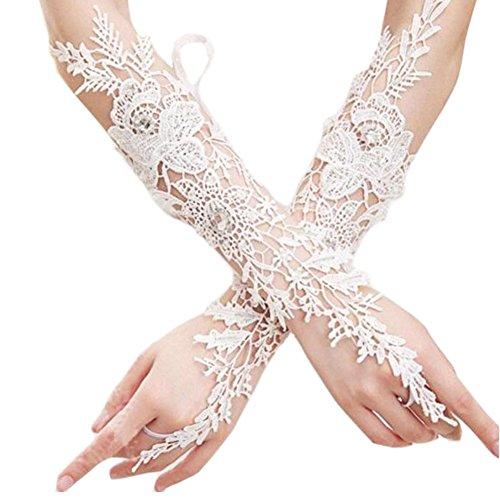 Mitaines de mariage de mode Gants Gants robe de mariée en dentelle de fleurs