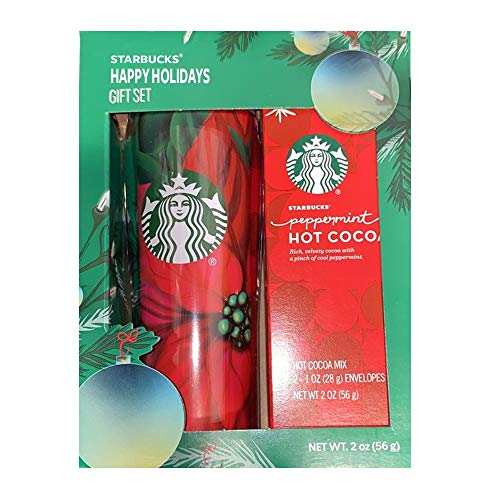 Starbucks Peppermint and Double Chocolate Hot Cocoa and Travel Mug
