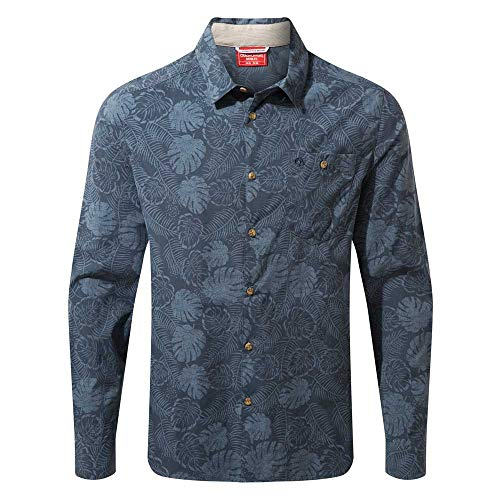 Craghoppers Herren Nl Lester Lsshirt Hemd, Steelblue Pr, M