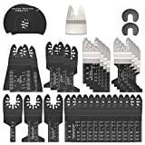 31PCS Oscillating Saw Blades Set Universal Multi Oscillating Tool Accessories Kit for Wood and Metal Cutting Quick Release