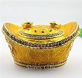 MegOK Glückliche Dekoration goldbarren Legierung schmuckschatulle Shop glück schmuck emaille Handwerk Geschenk