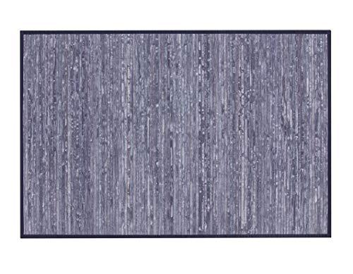 thesecrethome.es Alfombra Bambu - Azul 60x110cm - Antideslizante Ideal para Pasillo, salón, Comedor o Dormitorio