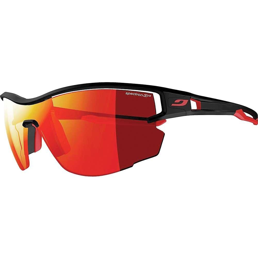 Julbo Sunglasses J 483 Aero 1114 Plastic Matt Black - Red Grey Blue with Red Mir
