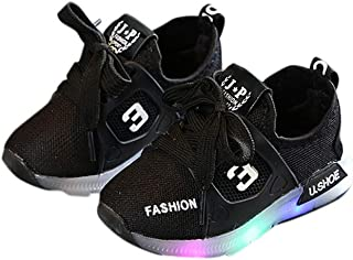 Leoie Unisex Children LED Light Shoes Sports Casual Anti-Skid Baby Breathable Shoes