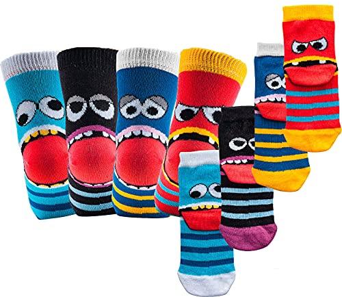 socksPur Niños – Ordenador – Calcetines – Pack de 3 3189: surtido en colores: turquesa, negro, azul y rojo 35-38