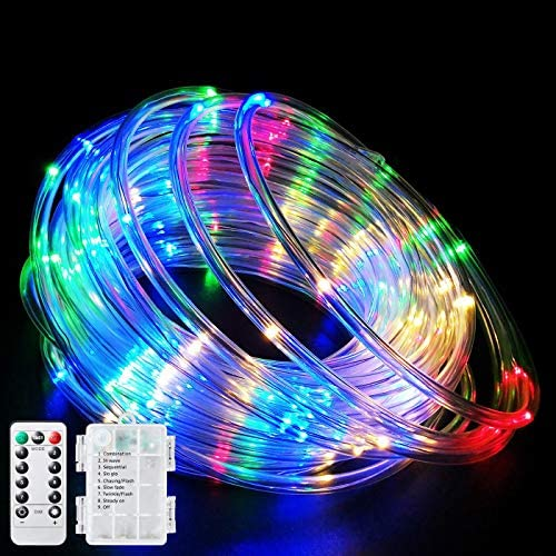Fatpoom LED Rope Lights Battery Operated String Lights 40Ft 120 LEDs 8 Modes Outdoor Waterproof product image