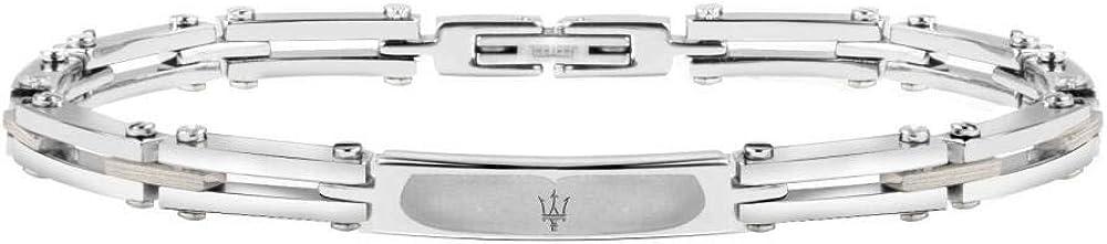 Maserati collezione jewels bracciale da uomo in acciaio JM417AKV03