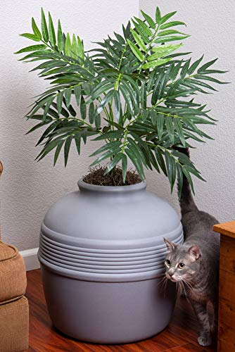 Good Pet Stuff Hidden Litter Litter Box, Gray, Large (HL3)