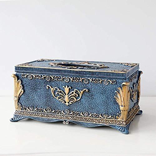 XUSHEN-HU Decoraciones del Arte del Arte de Escritorio Caja de pañuelos de decoración Sala de Mesa de café compresa 1 Dispensador