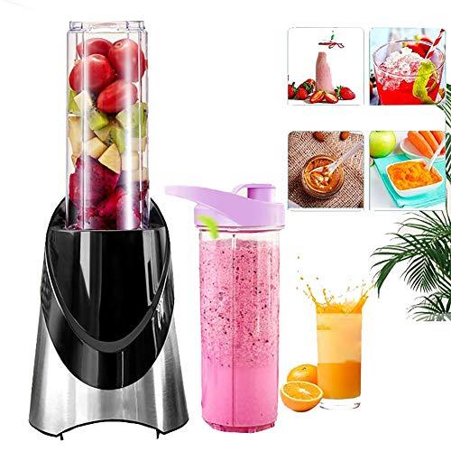 2 IN 1 portatile spremiagrumi elettrico Blender frutta mini Miscelatori Verdura Frutta Estrattori 500ML Bottiglia + 200ML Dry Grinder Cup