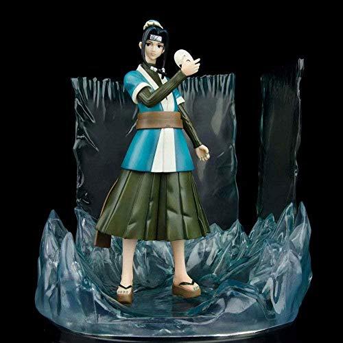 WIJJZY Aoemone Naruto Momochi Zabuza S Lover es Niebla Blanco con Máscara Anime Figuras Dibujos Animados Modelo Cumpleaños Regalo Estatua Colección Decoración