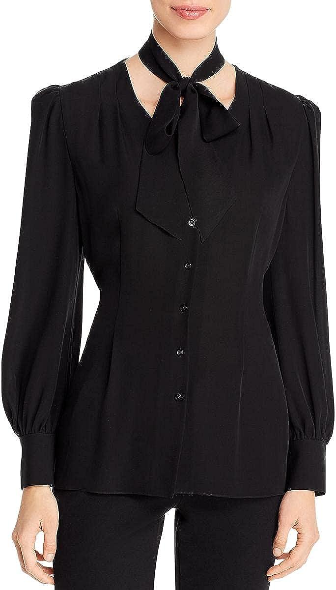 Elie Tahari Womens Silk Button Down Blouse