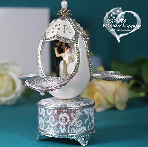 Cuzit Kreative Spieluhr in Eiform, handgefertigt, Mini-Eierschalen-Spieluhr, ideales Geschenk für Hochzeit, Jahrestag, Liebhaber, Geburtstag, Valentinstag