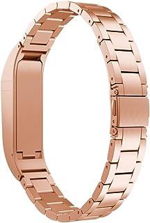 Magiyard Pulsera de Repuesto de Pulsera de Correa de Acero Inoxidable para Fitbit Flex (Rosa)