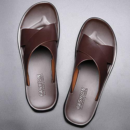 N-B Zapatillas cómodas y Transpirables de Ocio para Interiores y Exteriores Marea para Hombre Sandalias Antideslizantes para Hombre Tendencia Flip-Flop Zapatos de Playa para Hombre