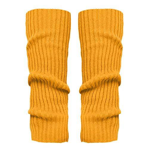 Stulpen Damen,1 Paar Mode Beinlinge Twist gestrickte Beinlinge Socken Boot Cover warme Leg Socken Teens Grobstrick Legwarmers(Gelb)