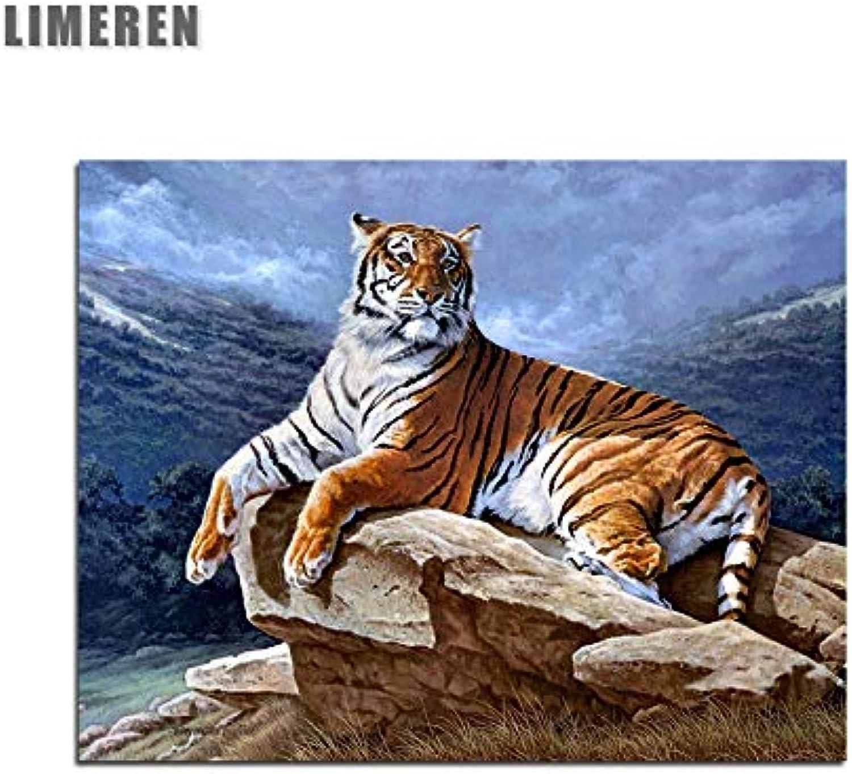 Kykdy Liegende Tiger Tier Bild Wand Acrylfarbe Nach Diy Malen Nach