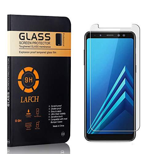 2 Pièces Verre Trempé pour Samsung Galaxy A8 Plus 2018, LAFCH Transparent HD Protection D'écran Compatible avec Galaxy A8 Plus 2018, 9H Dureté Film Protection Anti Rayures