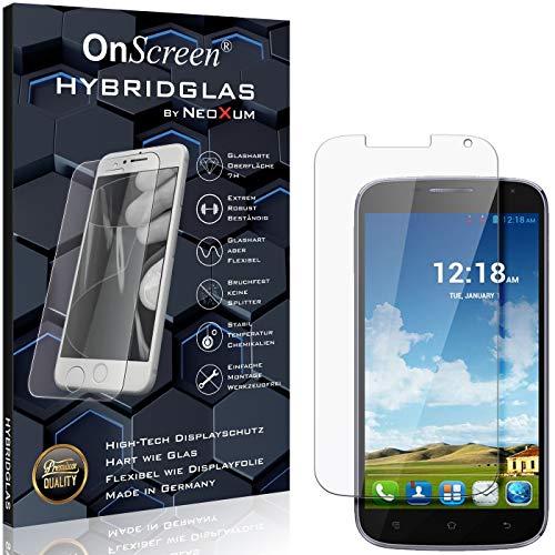 OnScreen Schutzfolie Panzerglas kompatibel mit Haier Phone W867 Panzer-Glas-Folie = biegsames HYBRIDGLAS, Bildschirmschutzfolie, splitterfrei, MATT, Anti-Reflex - entspiegelnd