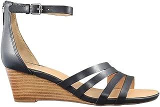 Women's Dutch Wedge Sandal, Black Leather, 9.5 M