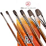 Best Grade Badger Brushes - Professional Artist Filbert Brushes for Oil & Heavy-body Review
