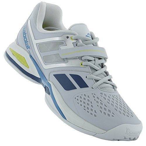 Babolat Babolat Propulse BPM Clay Sandplatz Tennis Tennisschuhe grau/blau/gelb, Farbe:grau;Schuhgröße:EUR 48