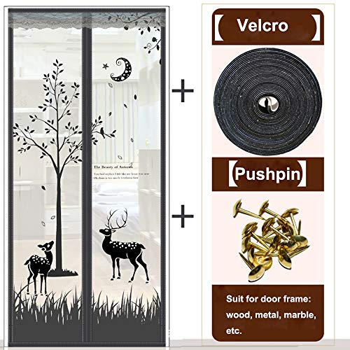 Het sluiten van Mesh Klamboe, Horren Gordijn Anti Mosquito Magnetic Tulle Shower Curtain Door Screen,90 * 205cm