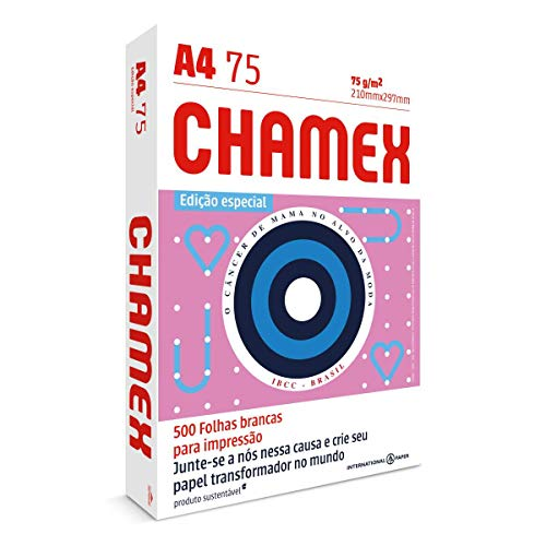 Papel Sulfite Chamex, A4, 75g, Edição Especial, Branco, Pacote com 500 Folhas