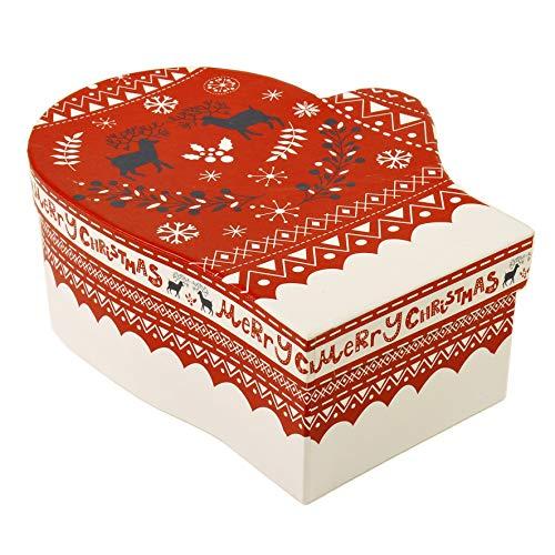 Vacchi S.p.A Weihnachtskarton, Handschuh, 21 x 17 x 8 cm