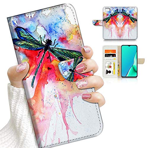 for iPhone 6, iPhone 6S, Designed Flip Wallet Phone Case Cover, A23076 Watercolor Dragonfly 23076