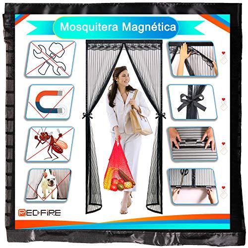 Redfire Mosquitera Magnética 200x225cm Diseño Prueba De Viento Cortina Mosquitera Magnética para Textura Fina Mosca Pantalla Diferentes tamaños para Cuarto De los Niños,Negro