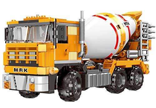 Modbrix City Bausteine LKW Betonmischer, Konstruktionsspielzeug, 654 Klemmbausteine