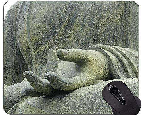 Einzigartige kundenspezifische Mausunterlage Mousepad, Meditations-Buddha-Statuen-Gummimausunterlage