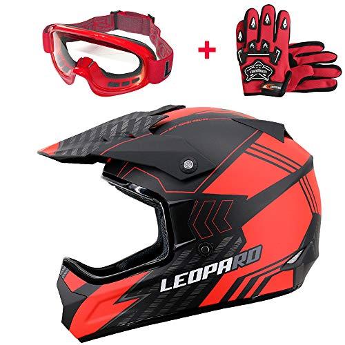 Leopard LEO-X307 Casco Motocross Eduro ECE Homologado Casco de Moto Cr