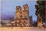 JANDEI - Cuadro LED (60 * 40 * 1,8 Notre Dame)