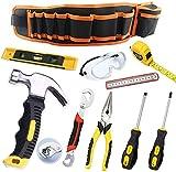 QeeHeng 10 kit de herramientas para niños con martillos, gafas de seguridad para niños,...