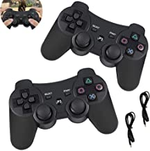 $23 » PS3 Wireless Controller, 2 Pack Playstation 3 Controller, Wireless Bluetooth Gamepad for PS3 Console with USB Charger Cable
