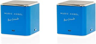 Music Angel Best Friendz Speaker for iPhone/iPod/MP3 Player - Blue (Pack of 2)