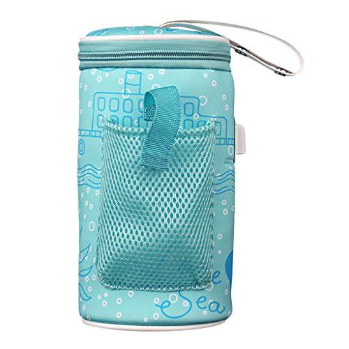 Milageto Calentador de Biberones de Lactancia para Mamá Calentador de Biberones con Calefacción USB Manga de Bolsa de Biberón de Leche para Bebés