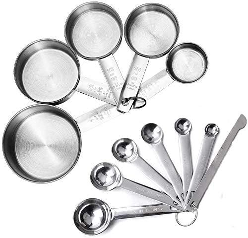 JUYILSU - Juego de tazas medidoras y cucharas medidoras con