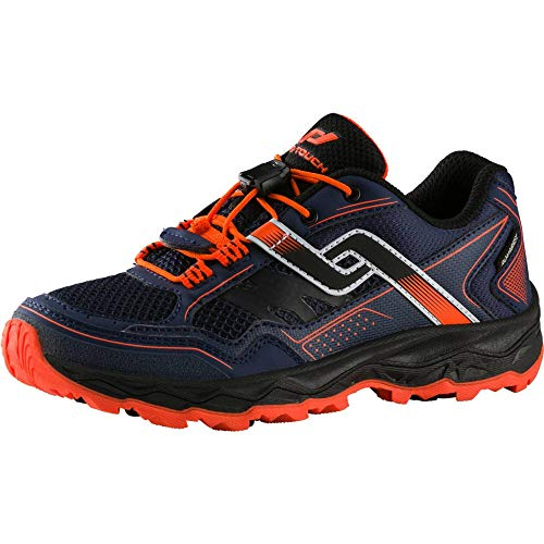 PRO TOUCH Trail-Run-Schuh Ridgerunner V Aqb Jr, Chaussures Mixte Enfant, Bleu (Navy/Orange 000), 35 EU