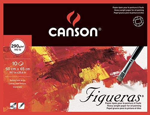 Canson Figueras Oil & Acrylic Canvas-Like Paper Block