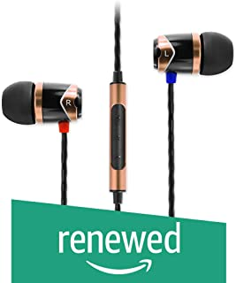 (Renewed) SoundMagic E10C in-Ear Headphones with Mic (Black/Gold)