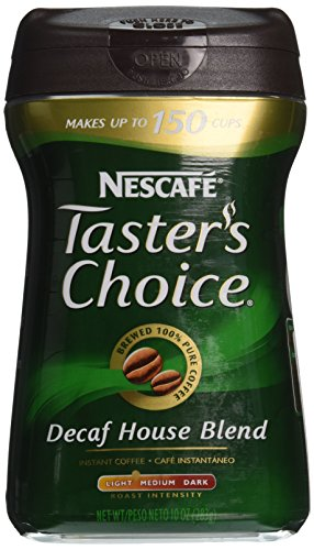 Nescafe Taster's Choice, 100% Pure Instant Coffee Decaffeinated, 10 oz 100% Pure Instant Coffee