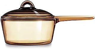 Arcoroc Vitro Blooming Heat-resistant Glass Cooking Saucepan Pot 1.45L