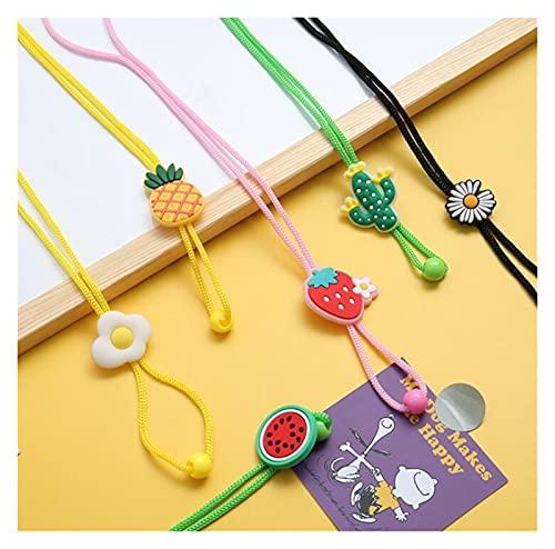 ZHIMING 5-Piece mask Lanyard with Adjustable Length, Adult mask Rope, Child mask Holder, Comfortable mask Strip (Color : 6pcs-Fruit)